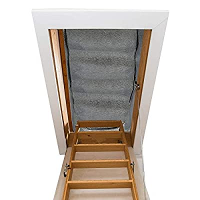 """Attic stairway insulator - 25"""" x 54"""" x 11"""" - R-Value of 14.5, Fireproof Attic stairs insulation cover"""