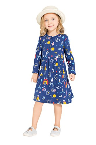 Little-Bitty-Girl-Printed-Flower-Casual-Toddler-Cotton-Long-Sleeve-Girl-Dress
