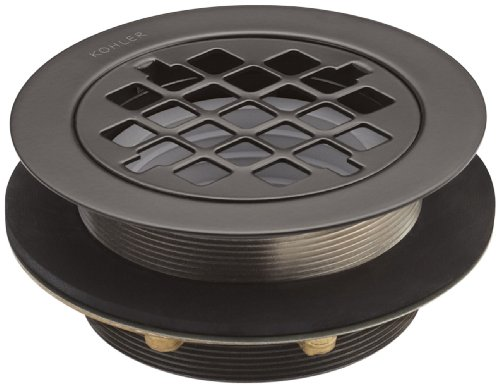 Kohler K-9132-2BZ Shower Drain with Grid Strainer, Oil Rubbed Bronze (Drain Rubbed Grid Bronze)