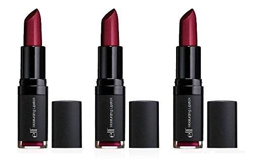 3 Pack e.l.f. Studio Moisturizing Lipstick 82641 Wine Tour