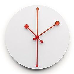 Alessi Dotty Wall Clock, 20.00 x 20.00 x 2.50 cm, Super White