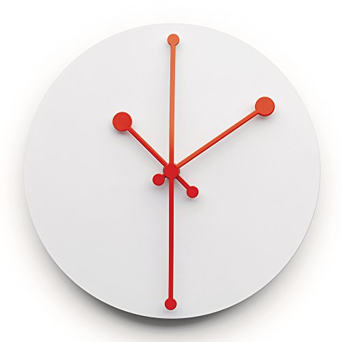Alessi Steel Coloured with Epoxy Resin Dotty Wall Clock, Super White
