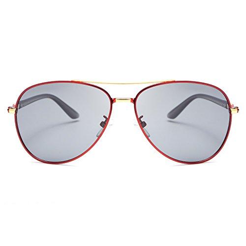 Conduite en Eyewear oculos UV400 Retro Hommes Nu Polaroid MY Sol Cadre Lunettes de Brown Light Soleil métal pour Proof 8CFqO6w