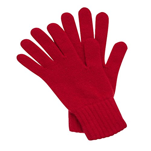Women's Cashmere Gloves Made in Scotland (Cardinal Red)