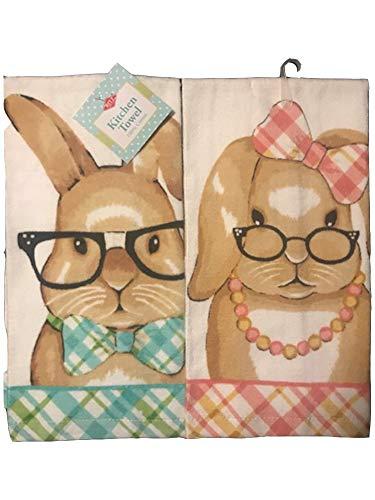 Ritz Mr. & Mrs. Easter Bunny Kitchen Dish Towel 2 Pk. -