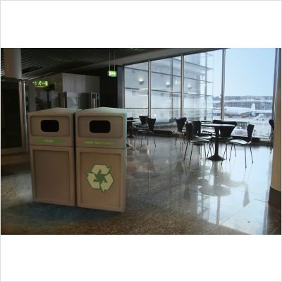 42 Gallon Recycle42 Recycling Container Color: Beige by Commercial Zone