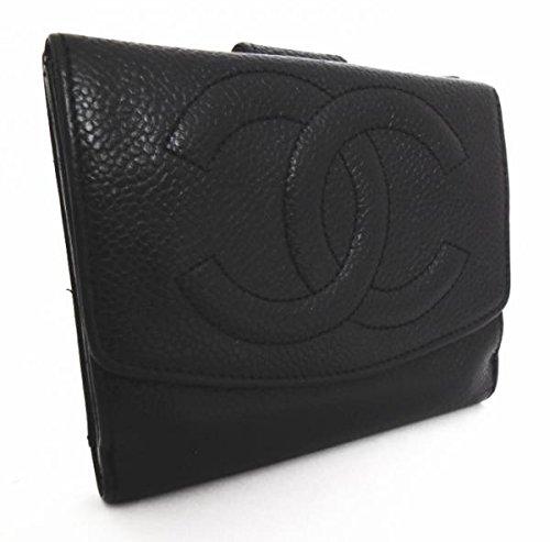 シャネル キャビアスキン 財布(ファスナー式小銭入れ付き) A13496