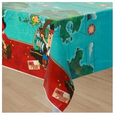 4KIDS Toy / Game Hallmark Jake and The Never Land Pirates Table Cover (13 X 7 X 0.2 Inches) - Great Party Addition: Toys & Games