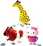 PartynBalloon ™ 3 Assorted Walking Cute Giraffe Horse Kitty Animals Pet Party Helium Balloon Combo X221A Mobile Phone Apps Special Edition