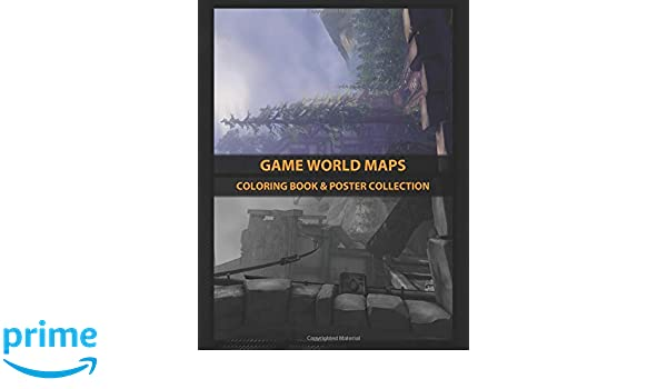 Coloring Book & Poster Collection: Game World Maps The ...