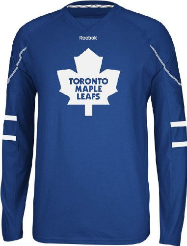 NHL Toronto Maple Leafs Men's Edge Long Sleeve Jersey Tee, Blue, XX-Large