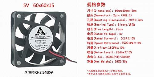 REFIT Brand New Genuine 5V 6015 60MM 6CM 6 cm Public Dispersion hot Small Fan