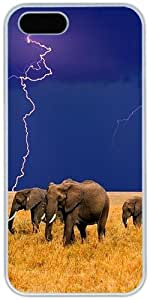 iPhone 4 4S Cases Hard Shell White Cover Skin Cases, iPhone 4 4S Case Elephant