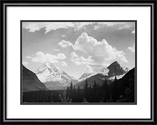 Amanti Art Mountains and Clouds, Glacier National Park, MT 1941 by Ansel Adams Framed Art Print