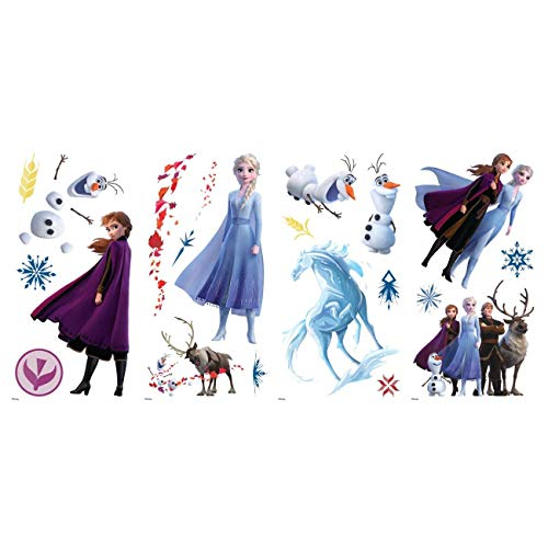 RoomMates - RMK4075SCS Disney Frozen 2 Character Peel and Stick Wall Decals | 21 Wall Stickers | Elsa, Anna, Olaf… 5