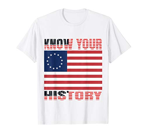 Know Your History Betsy Ross Vintage American Flag T-Shirt -