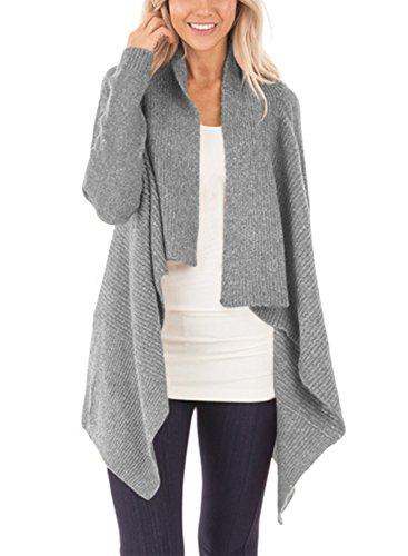 Layered Cardigan Sweater - 1