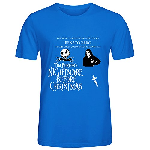 Renato Zero Interpreta Tim Burtons Nightmare Before Christma Men Tees Blue