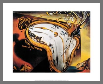 Diseño de Dalí suave de relojes de lámina de póster con diseño de reloj de pared, Ohne Rahmen: Amazon.es: Hogar