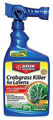 Bayer Advanced 704115 Crabgrass Killer for Lawns Ready-To-Spray, 32-Ounce (Bayer Advanced Lawn Weed And Crabgrass Killer)