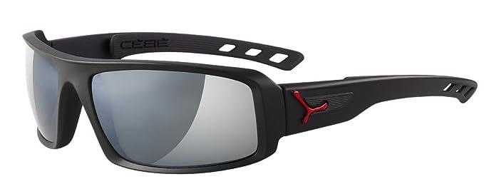 Cébé - Gafas de sol Wrap CBSENT6 SSential, Matt Black/Red ...