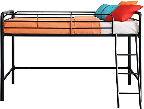 dhp junior loft bed frame with ladder, multifunctional space-saving design, black DHP Junior Loft Bed Frame with Ladder, Multifunctional Space-Saving Design, Black 41fGuPVBlfL