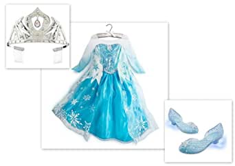 Amazon Com Disney Store Frozen Elsa Costume Dress 7 8