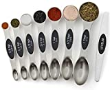 Spring Chef Magnetic Measuring Spoons Set, Dual Sided, Stainless...