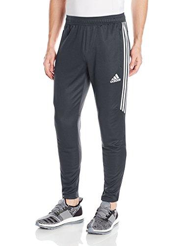 adidas Men's Soccer Tiro 17 Pants, Medium, Dark Grey/White/White