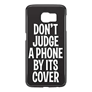 Loud Universe Samsung Galaxy S6 3D Wrap Around Dont Judge a Phone By Its Cover Print Cover - Black