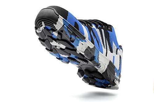 Stivali con da Antinfortunistiche per da Sneaker Axcer Calzature Comodissime Camuffare S3 Scarpe Lavoro Traspiranti Cantiere da Sportive Sicurezza e Acciaio Donna Uomo di Punta in Scarpe Blu Scarpe Escursionismo PTHTR7