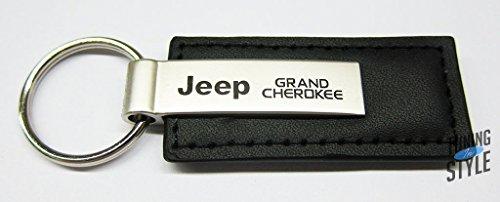 Jeep Grand Cherokee Black Leather Key Chain
