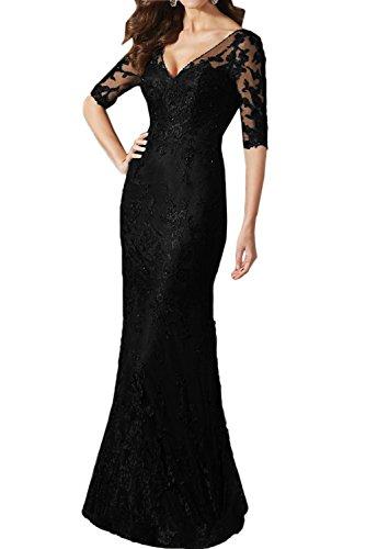 mujer Topkleider Vestido negro Vestido para Topkleider qw0Y8f