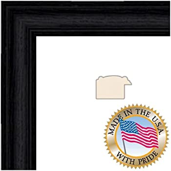 arttoframes 6x18 inch black stain on solid red oak wood picture frame 2wom0066 59504 yblk 6x18