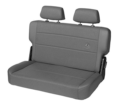 Bestop 39441-09 TrailMax II Fold and Tumble Charcoal Vinyl with Fabric Insert Rear Bench Seat for 1955-1995 CJ5, CJ7 and Wrangler YJ
