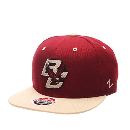 Zephyr Boston College Eagles 2-Tone Z11 Adjustable Snapback Cap - NCAA Flat Bill Baseball (2 Tone Ncaa Cap)