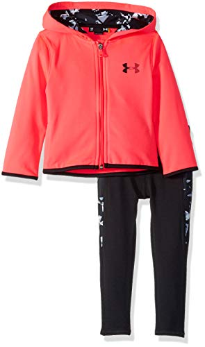 Under Armour Girls' Toddler Full Zip Hoody and Pant Set, Penta Pink Shattered, 4T (Under Armour Toddler Girls Pants)