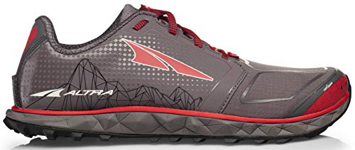 Altra AFM1953G Men's Superior 4 Trail Running Shoe, Gray/Red - 8 D(M) US