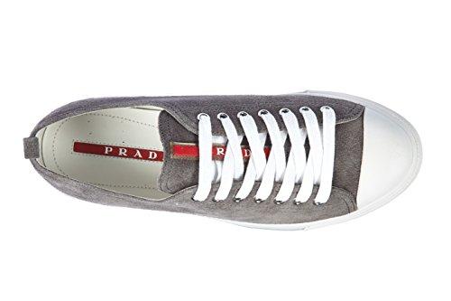 Prada Mens 4E2550 OQ4 F073E Leather Sneaker O1UZ52G
