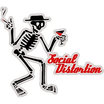 Social distortion american punk rock band skeleton logo sticker decal 5