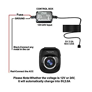 MEKNIC SV-PC01 Dash Cam Hardwire Kit - Works with any Mini