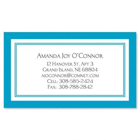 Calling Set Border Card - Fresh Water Luxe Business Cards - Set of 250 2