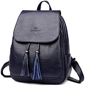 Haoyushangmao Girls Multifunctional Backpack for Daily Travel//Tourism//School//Work//Fashion//Leisure PU Leather Black//Blue//Gray//Red//Purple Sleek Minimalist