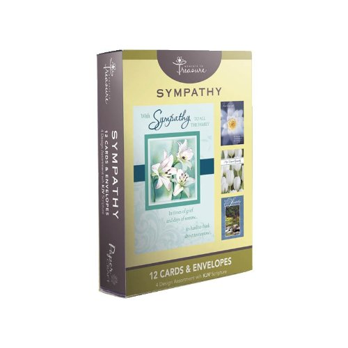 Flowers Sympathy Card (12 Pack Boxed Set Flower Sympathy Cards Bulk with KJV Scripture – Flowers Greeting Cards for Her for Him)