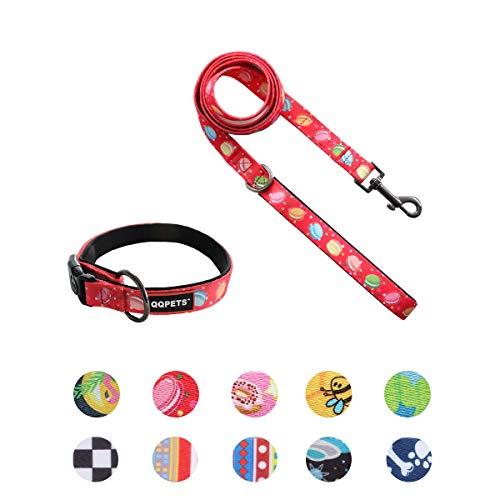 dog collar leash set adjustable