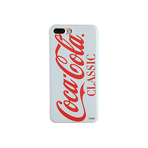 Ultra Slim Soft TPU Cocacola Can Case for iPhone 7Plus 8Plus White Red Cola Shape Summer Fresh Smooth Ultra Slim Fit Girls Vivid Protective Cool Hot Latest Fun Creative Unique Men Guys Boys Girls