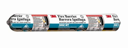 3M Fire Barrier Water Tight Sealant 3000 WT, Gray, 20 fl oz Sausage Pack