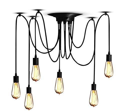 SISVIV Lampadario Industriale Vintage Lampada a Sospensione Lampade ...