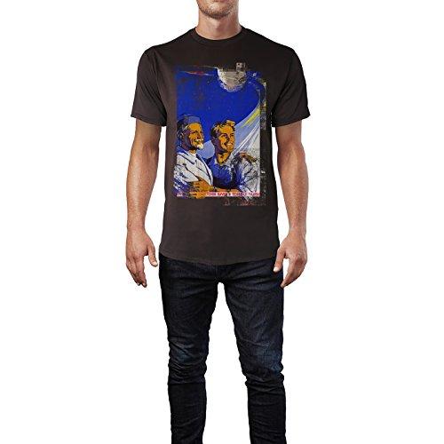 SINUS ART® Father and Son Herren T-Shirts braunes Cooles Fun Shirt mit tollen Aufdruck