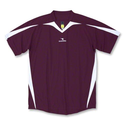 Diadora Soccer Men's Rigore Jersey, Maroon, Youth Small (24 Maroon Replica Football)